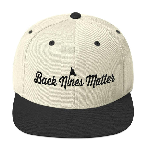 Back 9ines Matter Snapback Hat - Bogey Is Life - Golf Polos