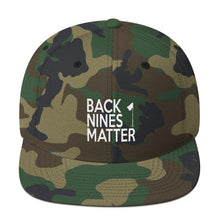 Back Nines Matter Snapback Hat - Bogey Is Life - Golf Polos
