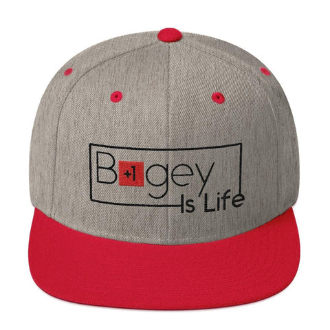 Bogey Is Life Original Premium Snapback Hat - Bogey Is Life Golf Apparel e88a8c1cda1