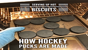 Serving Up Warm Biscuits: This Is How Hockey Pucks Are Made