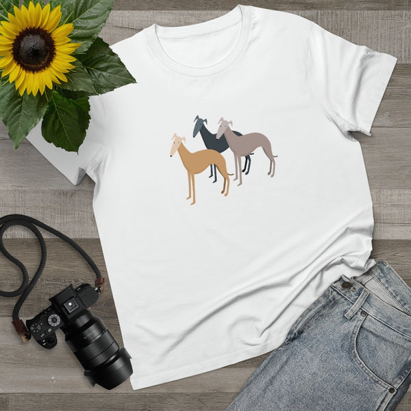 Women's T-Shirt with Three Greyhounds design