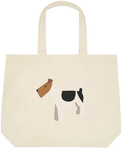 Fox Terrier Large Tote Bag