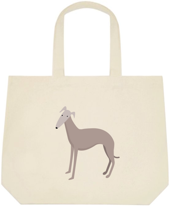 Light Greyhound Large Tote Bag