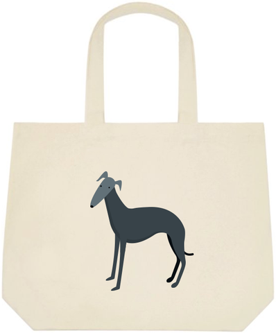 Dark Greyhound Large Tote Bag