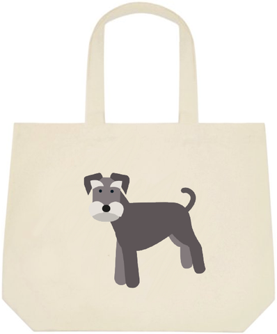 Schnauzer Large Canvas Tote Bag