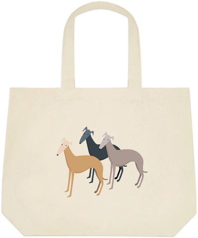 Three Greyhounds Large Tote Bag