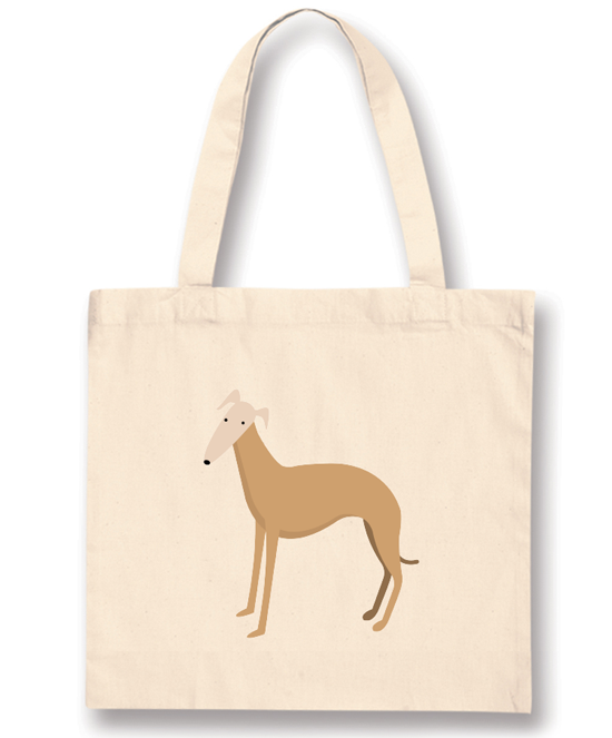 Gold Whippet Standard Tote Bag