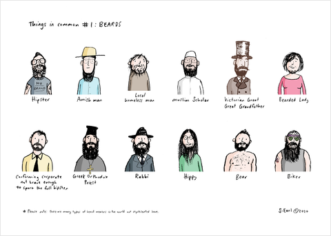 Beards Art Print