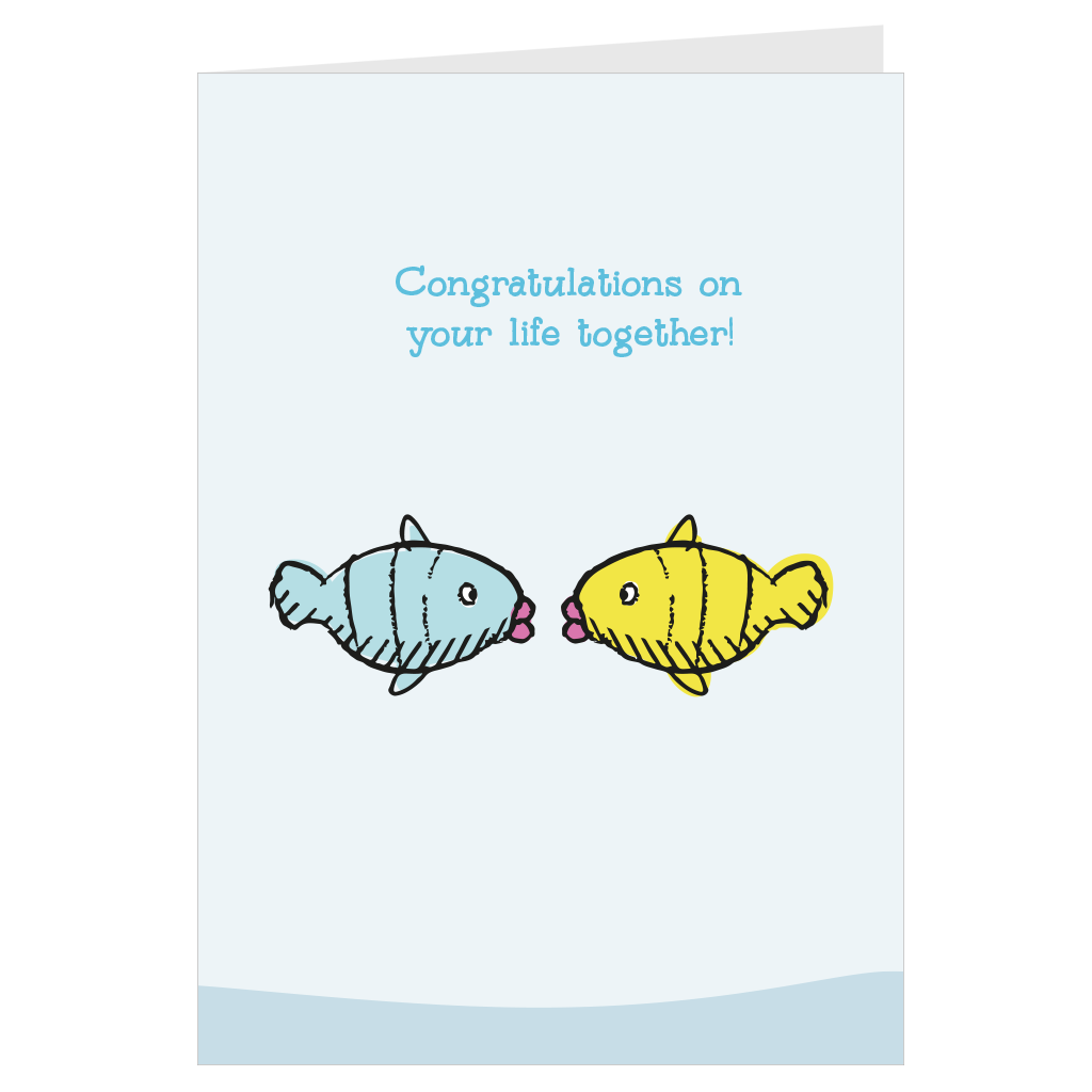 Congratulations on your life together A6 card & envelope