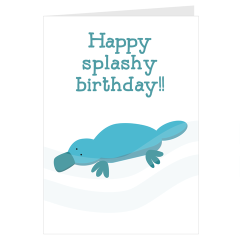 Happy Splashy Birthday A6 card & envelope