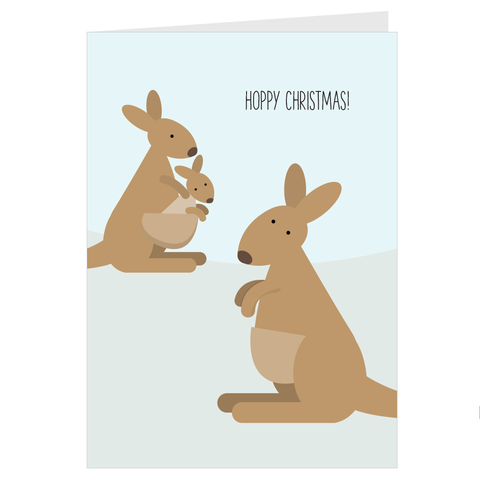 Hoppy Xmas Kangaroo Card
