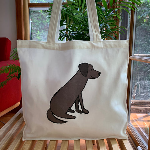 Chocolate Labrador Tote Bag