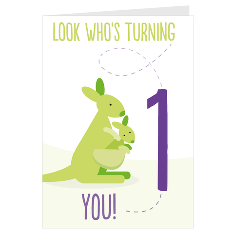 Kangaroo Look Who's Turning 1