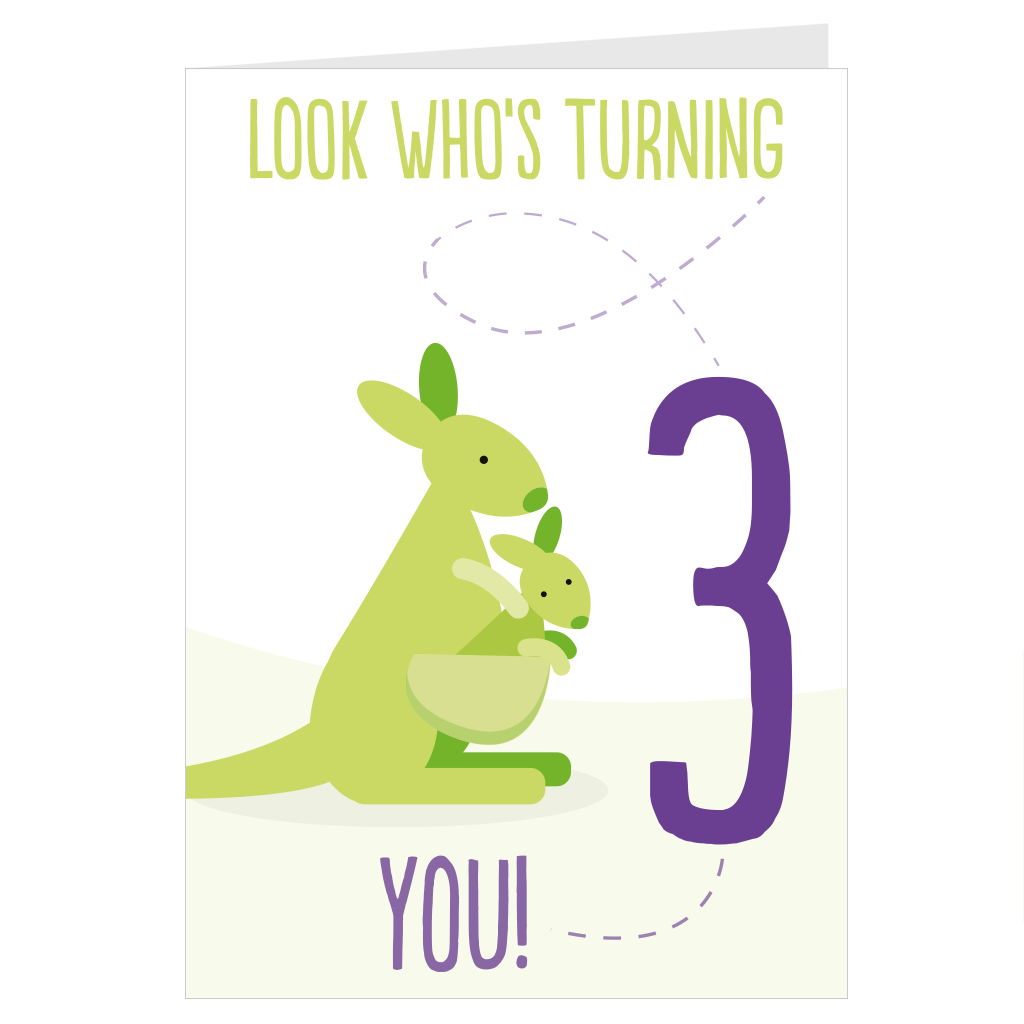 Kangaroo look who's turning 3