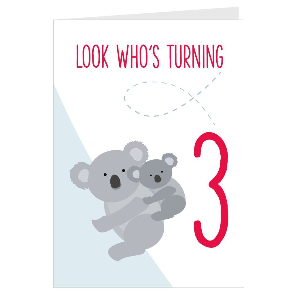 Koala Look Who's Turning 3