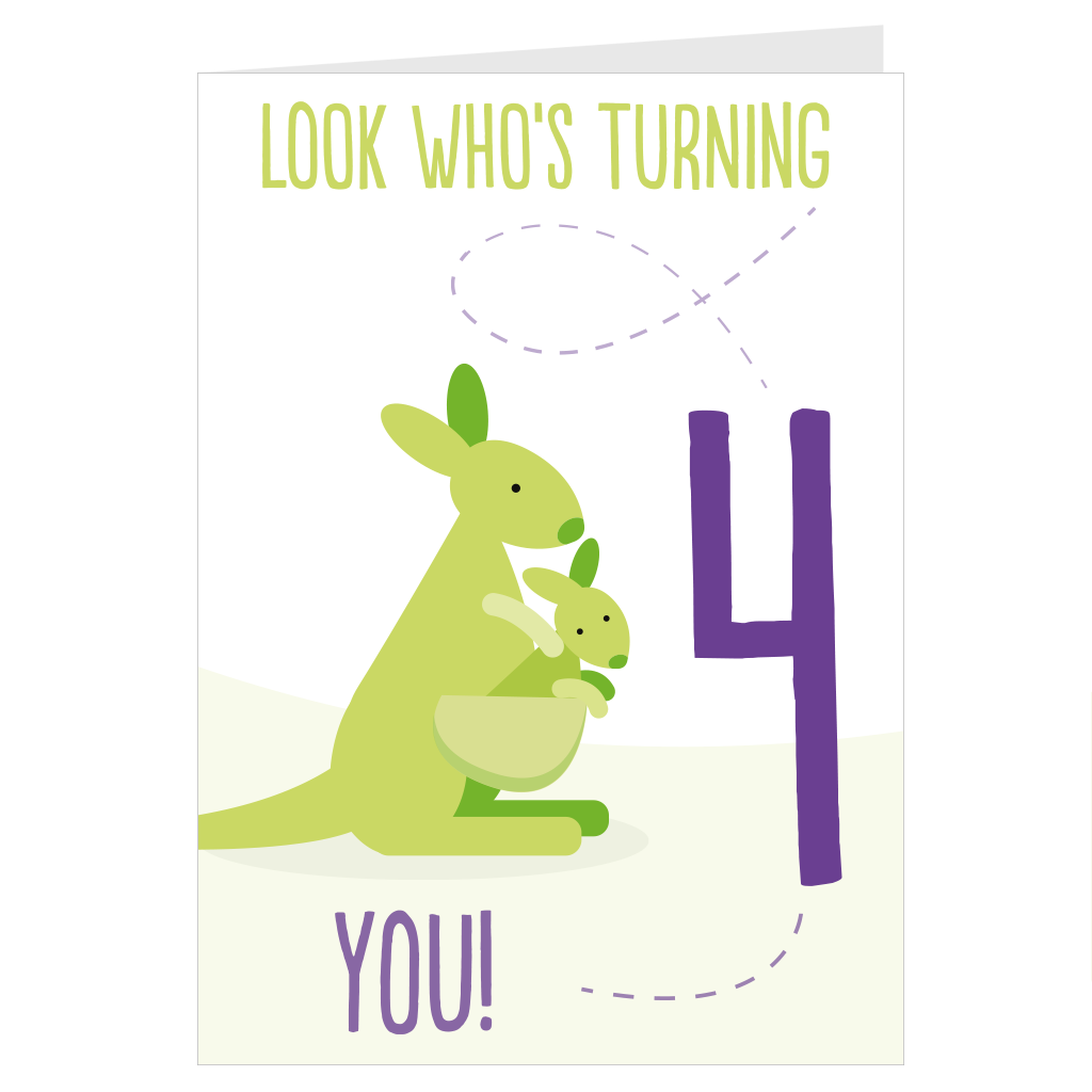 Kangaroo Look Who's Turning 4