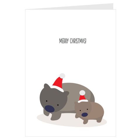 Merry Christmas Wombat Card