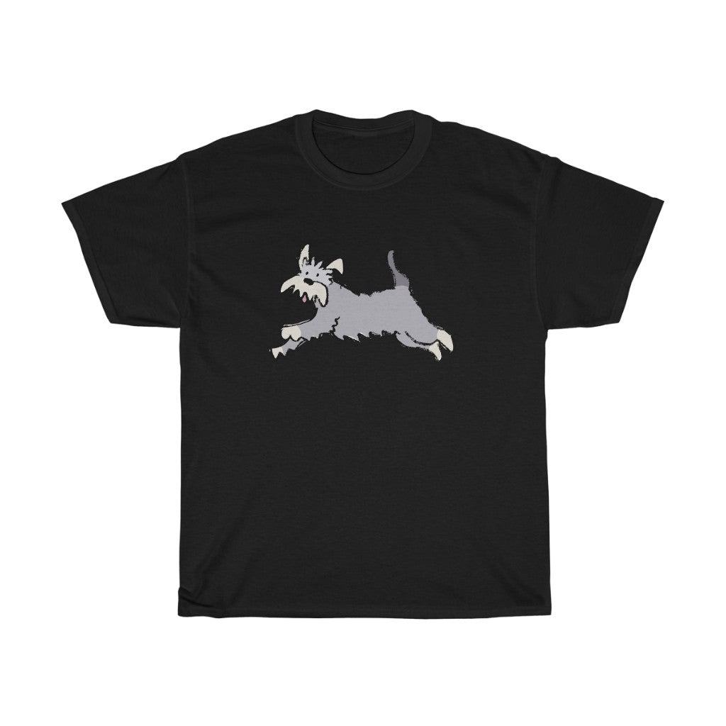 Men's T-Shirt with Schnauzer Design