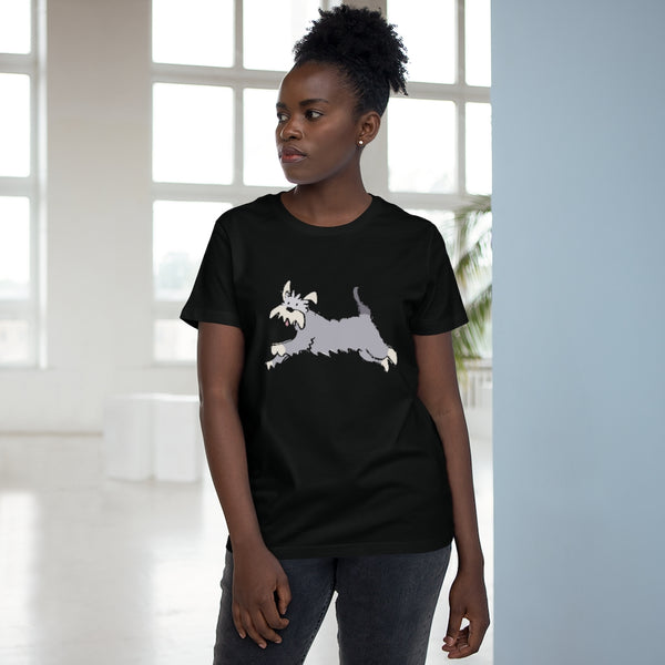 Women's T-Shirt with Running Schnauzer design