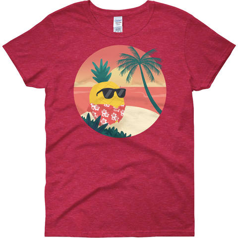 Pineapple T Shirt For Women | Tropical Hawaiian Tee | The Jazzy Panda