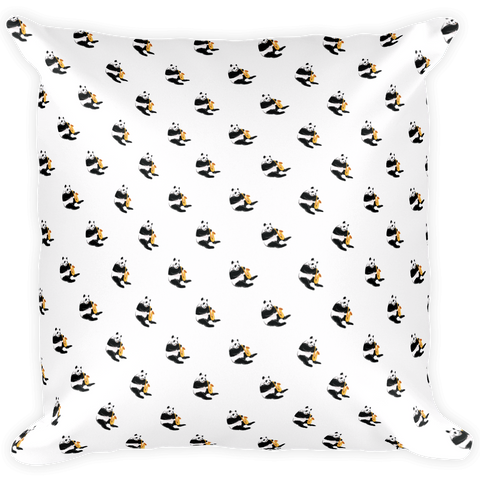 Panda All-Over Pillow | Funny Bear Lover Gift Cushion | The Jazzy Panda