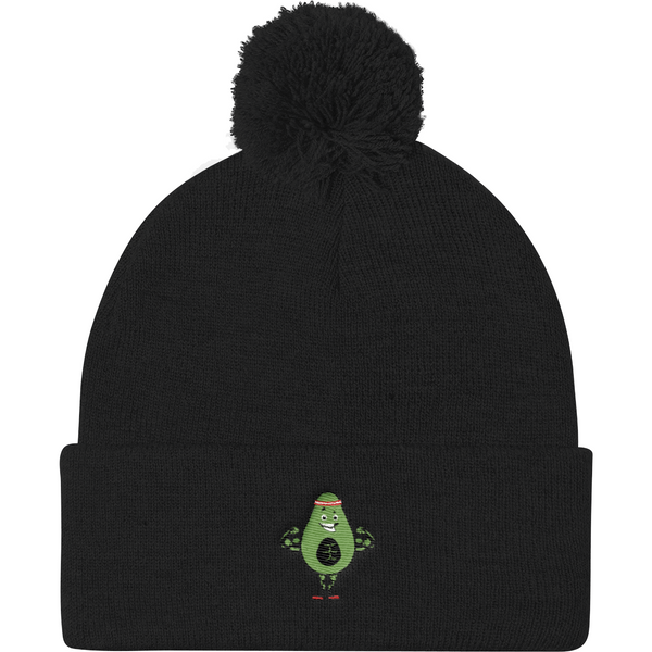 Avocado Beanie Hat For Men | Funny Vegan Gym Gift Cap | The Jazzy Panda