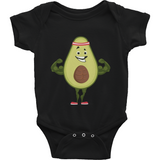 Avocado Baby Boy Onesie | Funny Vegan Gym Gift Romper | The Jazzy Panda