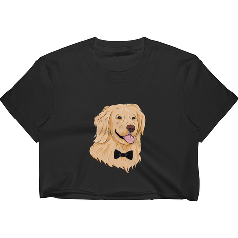 Golden Retriever Crop Top For Women | Funny Dog Tee | The Jazzy Panda