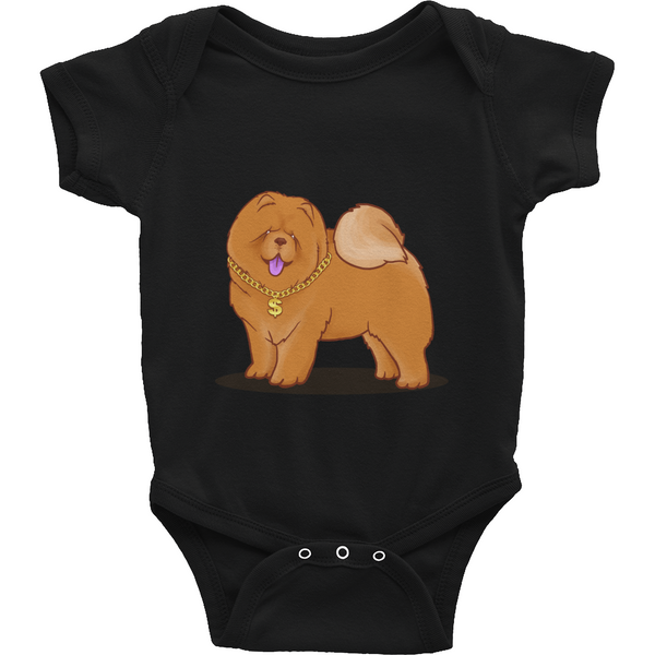 Chow Chow Baby Boy Onesie | Funny Dog Lover Romper | The Jazzy Panda