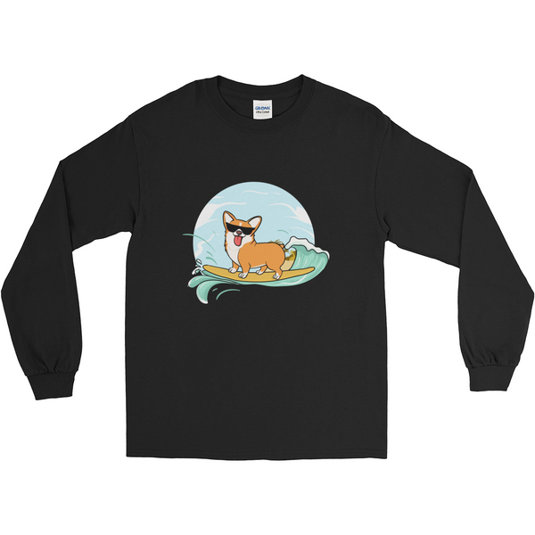 Corgi Long Sleeve T Shirt For Men | Funny Pembroke Welsh Dog Tee | The Jazzy Panda