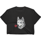 Husky Crop Top For Women | Funny Siberian Dog Tee | The Jazzy Panda