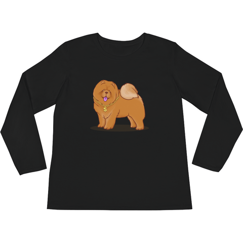 Chow Chow Long Sleeve T Shirt For Women | Funny Dog Lover Tee | The Jazzy Panda