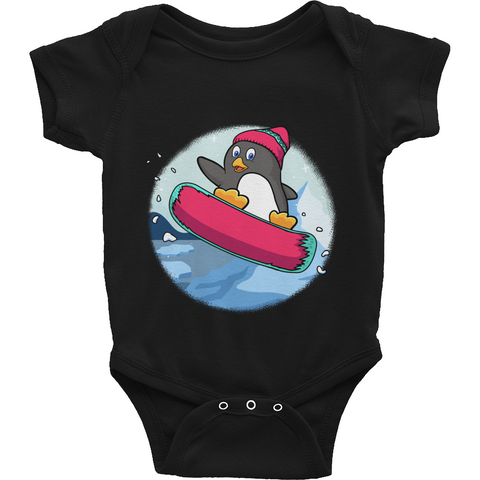 Penguin Baby Boy Onesie | Funny Zoo Animal Romper | The Jazzy Panda