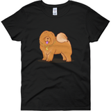 Chow Chow T Shirt For Women | Funny Dog Lover Tee | The Jazzy Panda