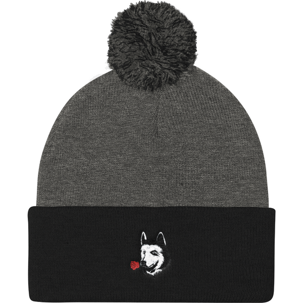 Husky Beanie Hat For Women | Funny Siberian Dog Cap | The Jazzy Panda