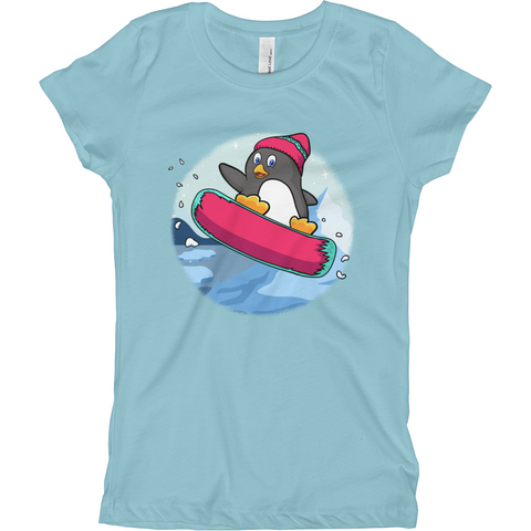 Penguin T Shirt For Girls | Funny Zoo Animal Tee | The Jazzy Panda