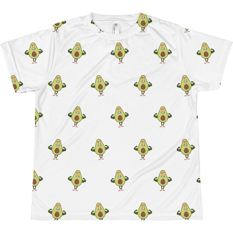 Avocado All-Over T Shirt For Girls | Funny Vegan Gym Gift Tee | The Jazzy Panda
