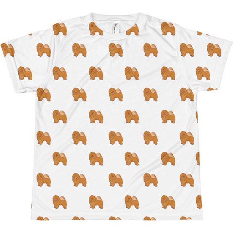 Chow Chow All-Over T Shirt For Girls | Funny Dog Lover Tee | The Jazzy Panda