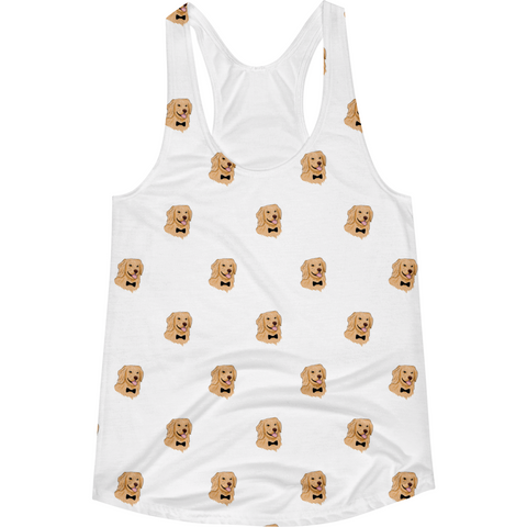 Golden Retriever All-Over Tank For Women | Funny Dog Top | The Jazzy Panda