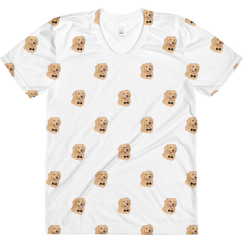 Golden Retriever All-Over T Shirt For Women | Funny Dog Tee | The Jazzy Panda