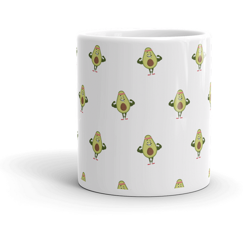 Avocado All-Over Mug | Funny Vegan Gym Gift Cup | The Jazzy Panda