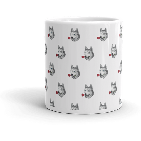 Husky All-Over Mug | Funny Siberian Dog Cup | The Jazzy Panda