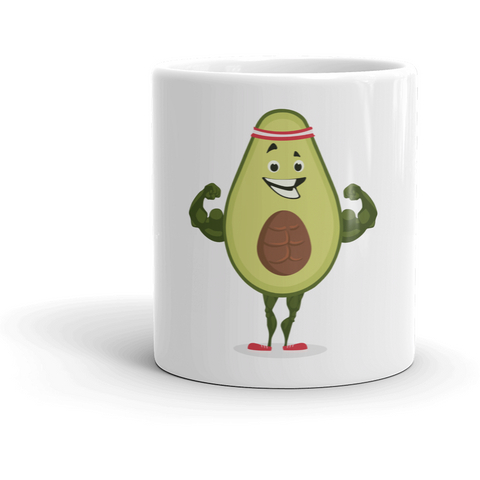 Avocado Mug | Funny Vegan Gym Gift Cup | The Jazzy Panda