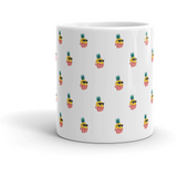Pineapple All-Over Mug | Tropical Hawaiian Cup | The Jazzy Panda