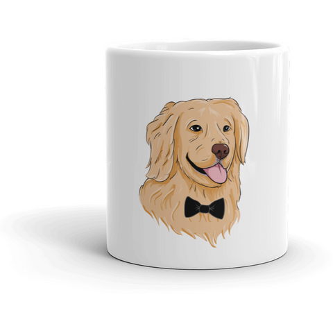 Golden Retriever Mug | Funny Dog Cup | The Jazzy Panda