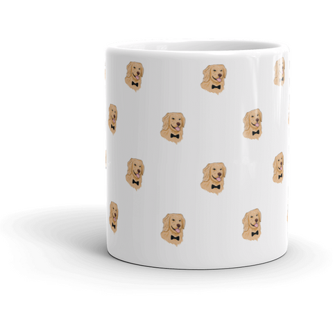 Golden Retriever All-Over Mug | Funny Dog Cup | The Jazzy Panda