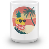 Pineapple Mug | Tropical Hawaiian Cup | The Jazzy Panda