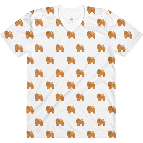 Chow Chow All-Over T Shirt For Women | Funny Dog Lover Tee | The Jazzy Panda