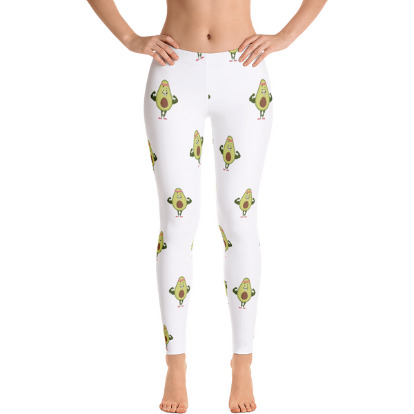 Avocado Leggings For Women | Funny Vegan Gym Gift Tights | The Jazzy Panda