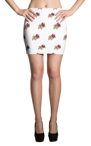Pug Skirt For Women | Funny Skydiving Dog Apparel | The Jazzy Panda